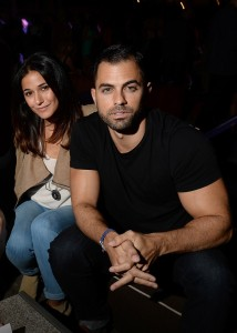 Emmanuelle Chrique and Adrian Bellani at Star Magazine Scene Stealers party at The Roosevelt Hotel in Hollywood.