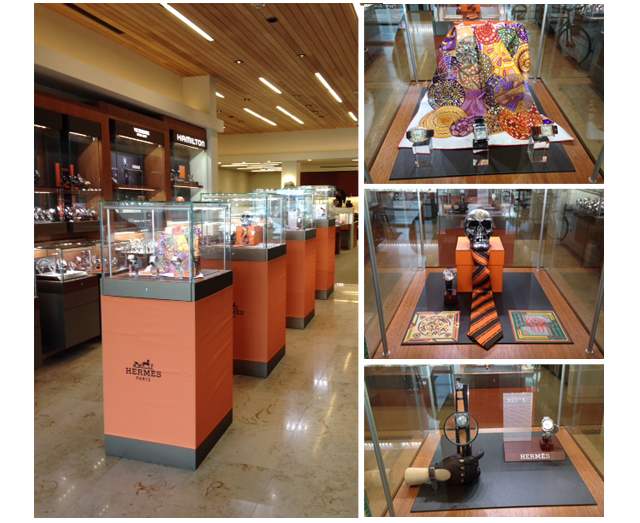Feldmar Watch Company Store October Holloween Hermes Exhibition on Display