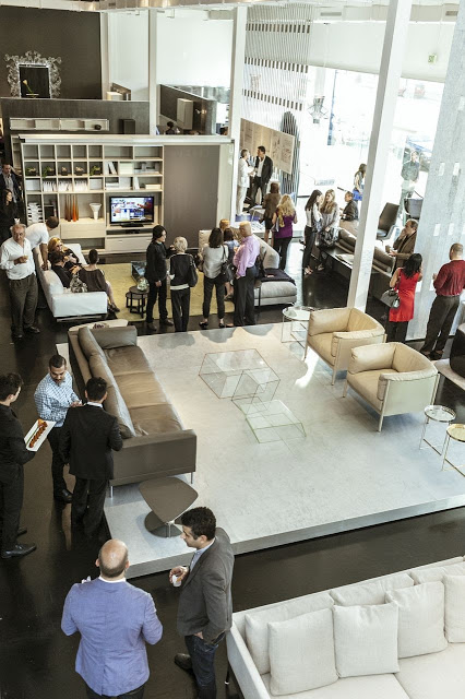 IN-EX Gio Ponti Event in Beverly Hills had guests socializing around this Italian showroom and decadent furniture.