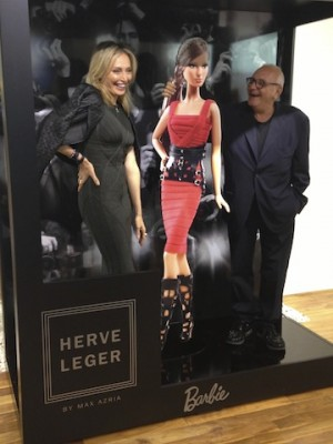 Lubov Azria and Max Azria at the Launch event of the Herve Leger Barbie Doll collection.
