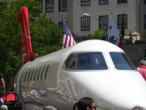 Learjet 85 aircraft mockup Flexjet by Bombardier