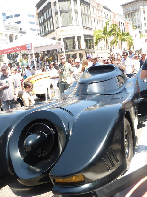 Concours d'Elegance Fathers Day Event Classic Cars BatMobile on Display Beverly Hills Car Show