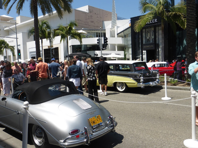 Fancy Cars among Fancy Stores Concours d'Elegance Fathers Day Festivities in Beverly Hills