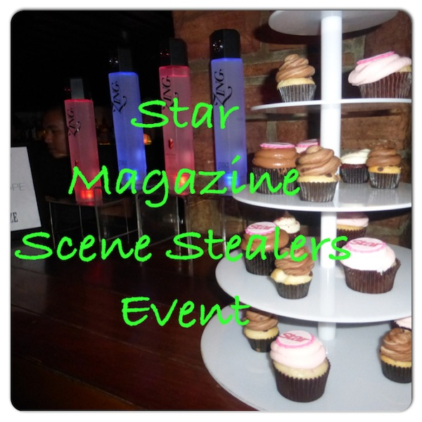 Star Magazine Scene Stealers Event Zing Vodka and Delectable Cupcake Display.
