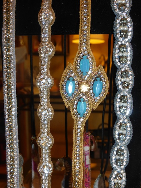 Gorgeous Turquoise jeweled hair pieces by Deepa Gurnani in celebrity favorite boutique, Verona in Studio City.