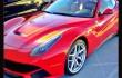 Hot Red Ferrari in Beverly Hills