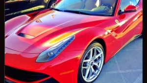 Hot Red Ferrari in Beverly Hills