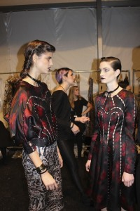 Backstage NYFW with Zimmermann Models Winter 2014