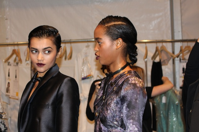 Backstage New York Fashion Week Zimmermann Winter 2014 Collection