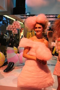Head to Toe Cotton Candy Dress at the MAC Cosmetics Pro Store Event Party on Robertson Blvd