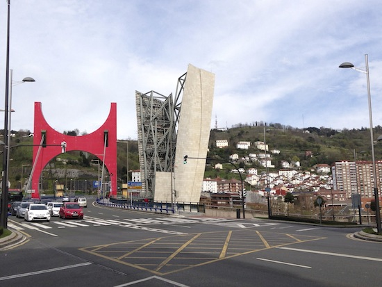 La Salve Bridge Bilbao Spain By French Artist Daniel Burin