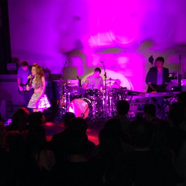 Star Magazine Hollywood Rocks Los Angeles Scene Performance by Cher Lloyd, James Maslow