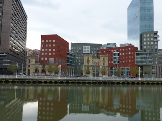 View of the River in Bilbao Spain Looks Like Ruins
