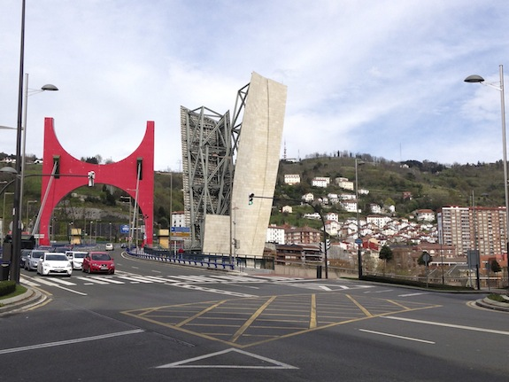 What is the Red Bridge in Bilbao Called - La Salve Bridge By Daniel Buren