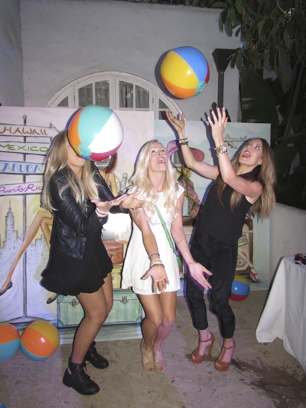 Almost summer time having fun with Beach Balls at Joico Sunset Marquis Party