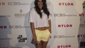Angelique Cabral Red Carpet Style Young Hollywood Nylon Magazine Party at the Tropicana Bar Roosevelt Hotel in Hollywood