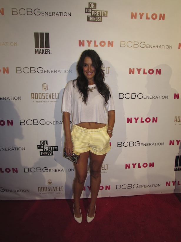 Angelique Cabral looks summer ready at the Nylon and BCBG Party at Tropicana Bar at the Hollywood Roosevelt Hotel