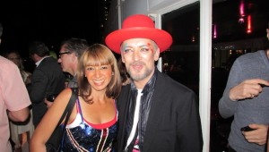 Actress Sahar Sabry & Singer Boy George Take a Picture together!