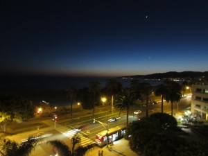 The View of The Santa Monica Beach from the Sangri La Hotel