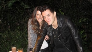DJ Shenae Grimes and Josh Beech playing some tunes for guests at the Joico Summer Event