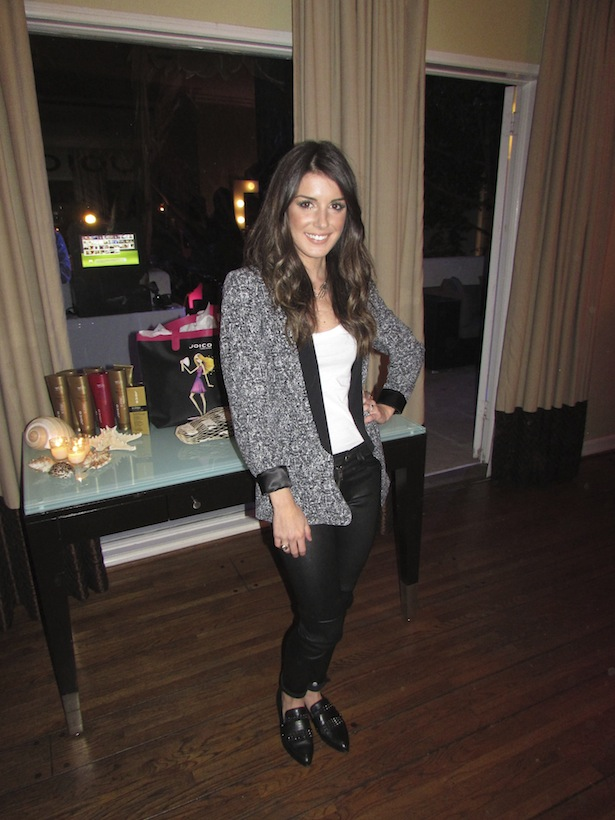 DJ Shenae Grimes at Joico Party in Los Angeles getting ready for summer hair trends