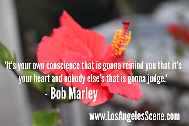 Daily Quote of the day from Bob Marley on Los Angeles Scene