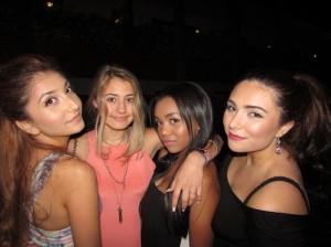 Having Fun Poolside at the Nylon Magazine BCBG Party at Tropicana Bar in Hollywood