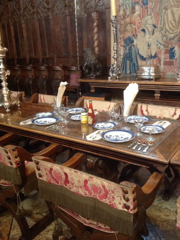 Hearst Castle - dining room table