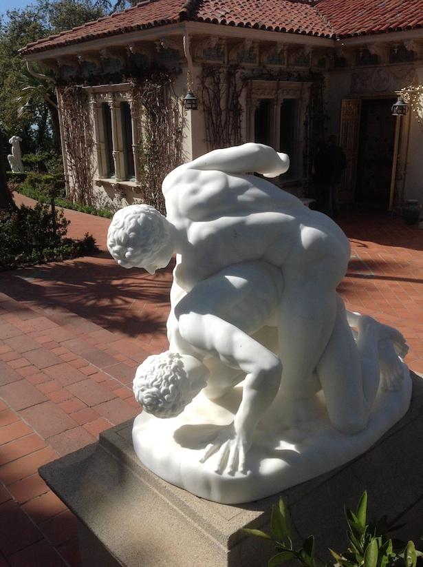 Hearst Castle - Statue in the Gardens
