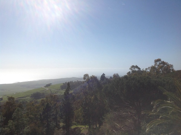 Hearst Castle - the view of the Pacific Ocean