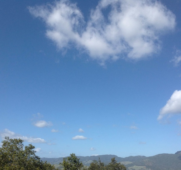 Hearst Castle - the view of the clouds