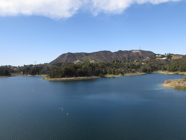 Hollywood Reservoir - Lake Hollywood Hills | A view of the Hollywood Sign