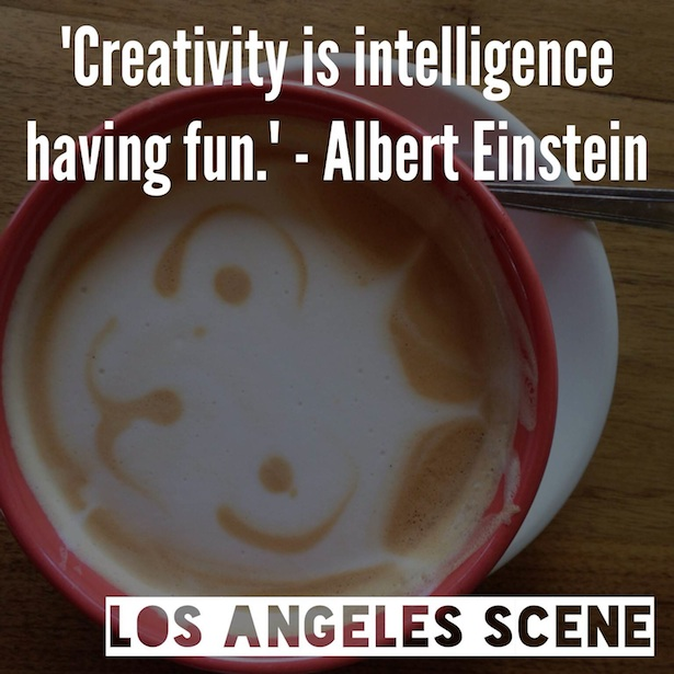 "Inspirational Quote - ""Creativity is intelligence having fun."" - Albert Einstein"