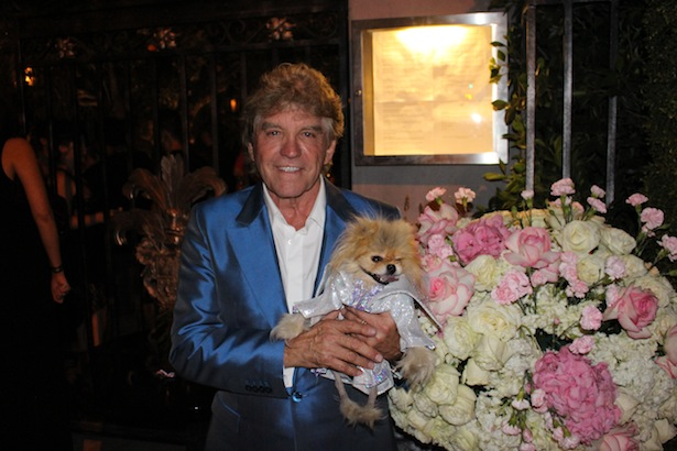 Lisa Vanderpump Husband Ken Todd with dog at The PUMP Grand Opening Party