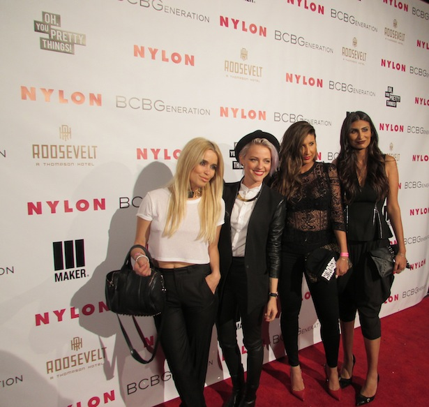 Red Carpet Nylon BCBG Generation Party at Roosevelt Hotel in Hollywood