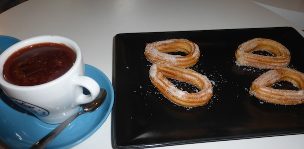 Spanish Traditional Food Churros with Chocolate Dipping Sauce