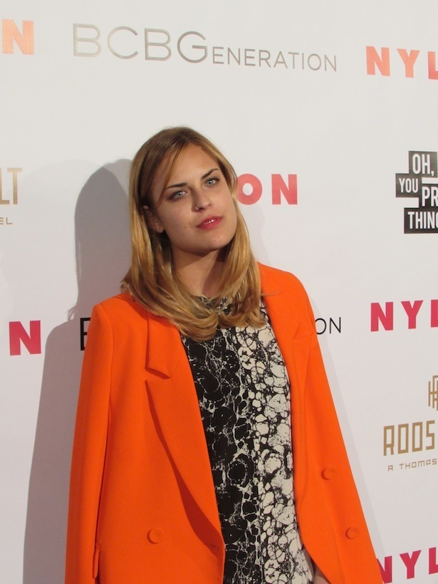 Tallulah Willis at Nylon Magazine BCBG Party at Roosevelt Hotel Tropicana Bar