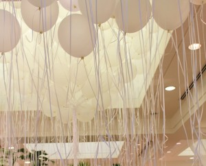 Cupcakes and Cashmere Balloons at her Launch Event in Beverly Hills  for Club Monaco