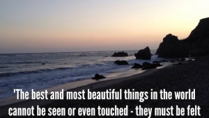 Inspirational Quote by Helen Keller on Los Angeles Scene