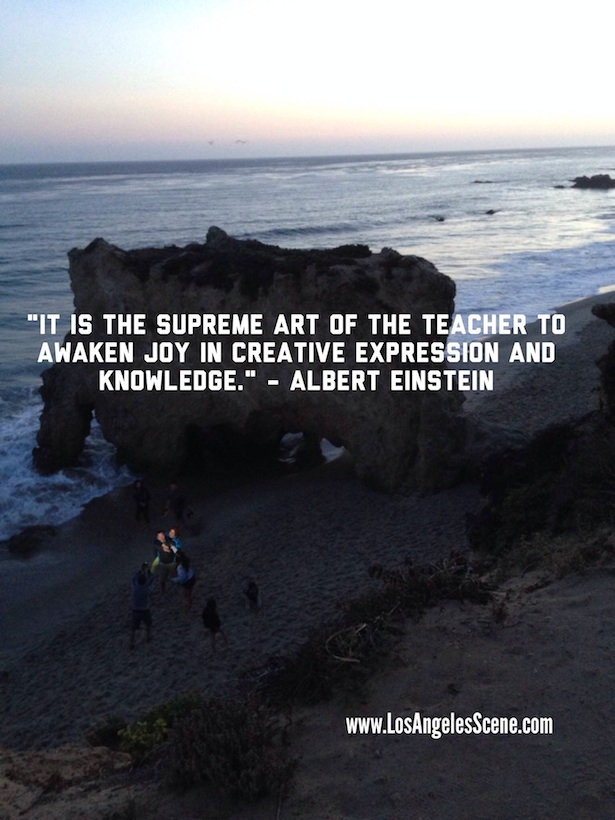 Inspirational quote of the day by Albert Einstein on Los Angeles Scene