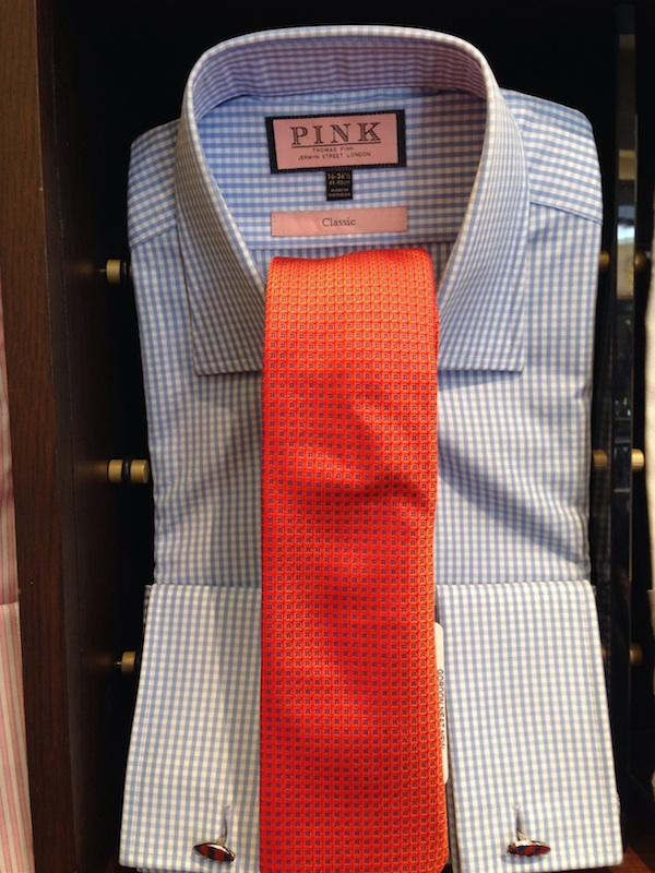 fashion suit and tie orange tie