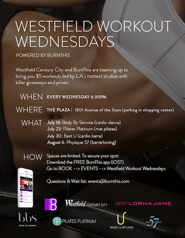 2014 Westfield_Century City Work Out Fitness in West Los Angeles