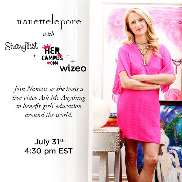 Nanette Lepore and Wizeo Host a Live Online Video on July 31