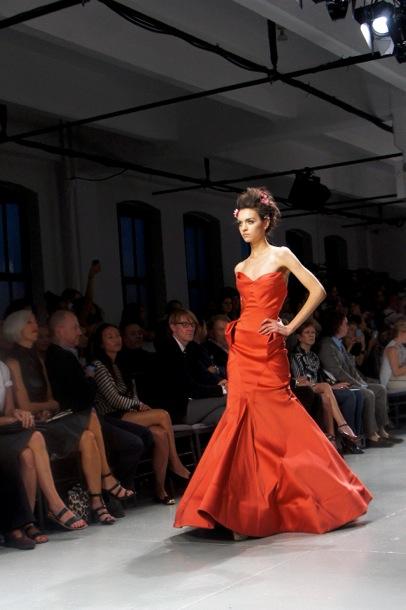Zac Posen Red Long Dress Summer 2014 Runway Dress