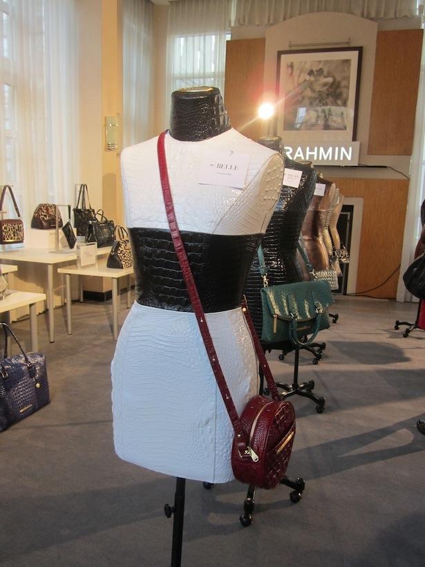 Brahmin Burgandy Winter Belle Bag Wearable Art