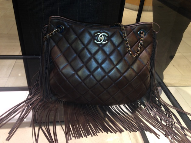 Quilted Chanel Fringe Handbag
