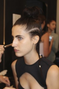 Backstage MAC Fashion Week Beauty Trends at Chromat Spring 2015 Runway Show Standard Hotel