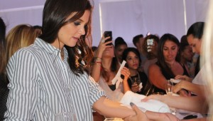 Katie Holmes gets Tattood at Old Navy and Joe Zee Fashion Week Party