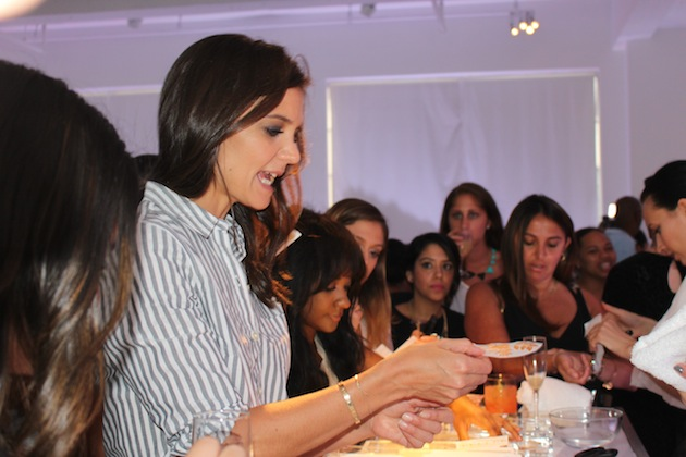 Katie Holmes gets tattoo at Old Navy Fashion Week Party