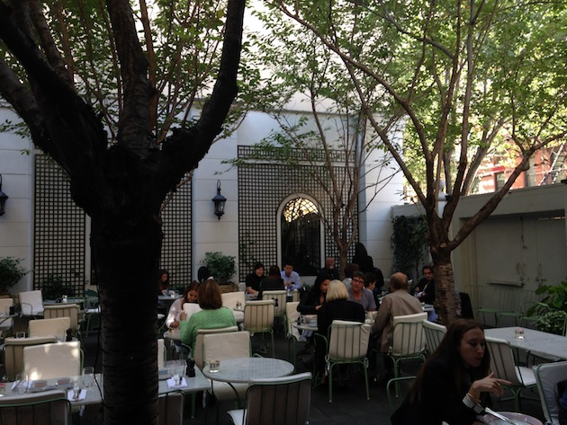 Laduree SOHO Sunday Brunch NYC Outdoor Summer patio